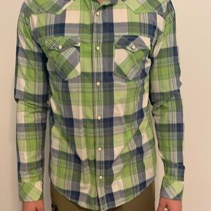 Men's Aeropostale Long Sleeve Button-Up Shirt